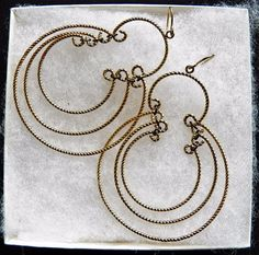 $2.00 - Goldtone Triple Loop Earrings (121216-102 ER) fashion, jewelry #unknown #Hoop
