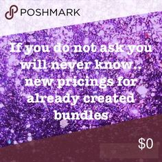 New Pricing set up I have come up with a new system for already created beauty bundles .. must buy to find out Makeup