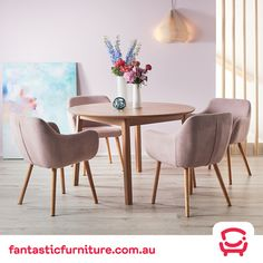 The Nicki is the must-have bucket chair for any Scandinavian home! Features oak-stained legs and a dusty pink fabric finish. Oak Dining Room, Dining Table Chairs, Old Chairs, Metal Chairs, Bucket Chairs, Floor Protectors For Chairs, Small Accent Chairs, Oak Table, Bedroom Chair