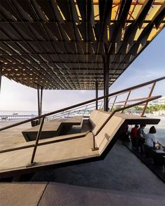 This project was designed by Department of Architecture to provide an architecture that triggers various uses and accommodates multiple activities as a multipurpose pavilion suitable Stairs Architecture, Landscape Architecture, Landscape Design, News Around The World, Around The Worlds, Outdoor Pavilion, Urban Furniture, Urban Planning, Pedestrian