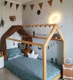 Night, night 🌟 Today I won't stay awake much longer than the kids … I'm sooo flat 😧 Mael and I are now … Toddler Rooms, Baby Boy Rooms, Baby Bedroom, Kids Bedroom, 1930s Bedroom, Master Bedroom, Nursery Room, Small Childrens Bedroom Ideas, Little Boys Rooms