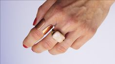 DIY // Wrapped Peach Aventurine Ring.. So cool!! Must try this!!