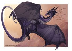 I really like this dragon. It's purple! Great for covers, characters, and profile pictures. I would totally use this for a character!