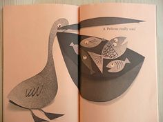wonderful cut paper pelican & fish by Abner Graboff, via stickers and stuff Simple Aesthetic, Paper Cutting, Cut Paper, Retro Pop, Children's Literature, Illustrations And Posters, Art Journal Inspiration, Children's Book Illustration, Bird Art
