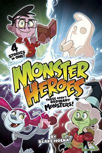 """Over four stories, Hoena and Bardin introduce young monsters who """"wanted to be like superheroes and save the day."""" There's Will, a shy but brave ghost; Mina, a beet-juice-drinking vampire; Linda, a kindly witch; and Brian, a quick-thinking zombie who prefers tofu to brains. ... Hoena's playful sense of humor and Bardin's Cartoon Network–ready illustrations keep these three-chapter stories quick moving and entertaining."""