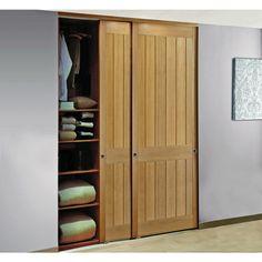 Comment d corer des portes coulissantes de placard recherche google porte - Porte de placard coulissante bois ...