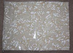 Ralph Lauren Beige Bowen Natural New Cloth 4 PLACEMATS Holly 14x19 Cotton Blend #RalphLauren