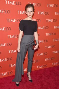 Emma Watson. See all the celebs who attended the Time 100 gala.