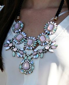 Pinning Statement Necklaces that I like to get ideas of how to wear them, because I'm not sure if I could pull them off