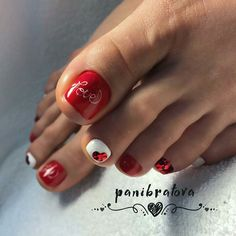 Pedicure Designs Nailart New Ideas French Pedicure, Pedicure Nail Art, Toe Nail Art, French Nails, French Toes, Pretty Toe Nails, Cute Toe Nails, My Nails, Cute Pedicure Designs