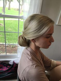 #blonde #updo #bun #sleek #bridesmaid #austin #texas #weddingstylist Blonde Updo, Austin Texas, Updos, Nova, Bridesmaid, Up Dos, Maid Of Honour, Bridesmaids, Party Hairstyles