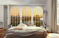 Fotomurales para decorar tu hogar: Recámaras de estilo moderno por DeColor