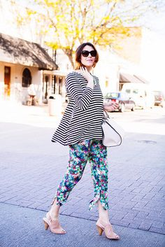 Kendi is making me want to try mixing my stripes and florals. Not sure I'd pull it off so well though. :)