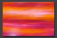 """Abstract contemporary painting, pink, coral, white, orange. watermelon, berry.  """"Sorbet"""""""