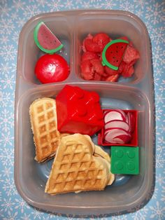 Waffle Fun lunch from Lunches Fit For a Kid