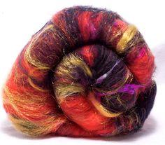 Spinning  ART BATT  Merino  Cashmere  Sari silk by YummyYarnsUK, £12.99