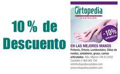 Tu salud es lo primero, ponte siempre en las mejores manos.    Ortopedia Castellón: Prótesis, Órtesis, Lumbostatos, Sillas de ruedas, andadores, gruas, camas articuladas.
