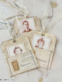 Sew Somerset, Winter On newstands December Journal Paper, Art Journal Pages, Junk Journal, Art Journals, Journal Covers, Journal Ideas, Vintage Journals, Vintage Tags, Vintage Paper