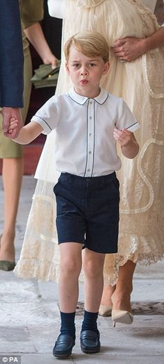 George is wearing the Daniel shirt, £42 by Spanish brand Amaia Kids