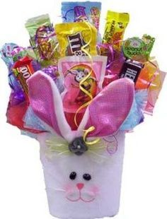 Crafts with candy candy bouquets of our fans how to we are shown how to make a delectable piece of art given by the author of delectable art its an easter candy bouquet its a great gift to give during the negle Choice Image