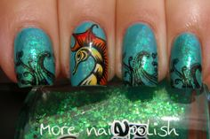 Seahorse reverse stamping - More Nail Polish Moyou Sailor 04 plate & Messy Mansion MM29 for the Seahorse
