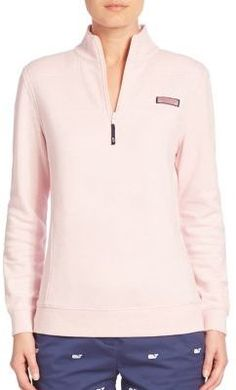 Vineyard Vines Long Sleeve Stand Collar Pullover