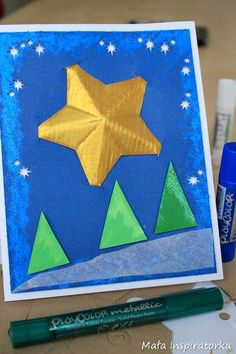 Card with star 3D  Kartka z HOCKOgwiazdką (www.hocko.pl )