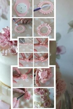 DIY Fondant Flowers www.hierishetfeest.com