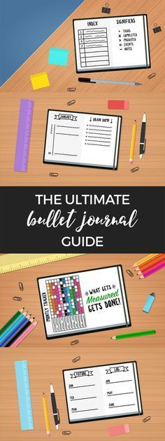 Everything you need to get started with a bullet journal. What is a bullet journal + bullet journal setup! #bulletjournal #planner