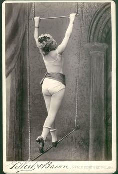 Vintage trapeze artist ~