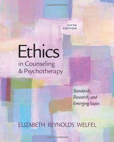 Ethics in Counseling & Psychotherapy by Elizabeth Reynolds Welfel http://www.amazon.com/dp/084002858X/ref=cm_sw_r_pi_dp_1.8-tb0FBYE3J