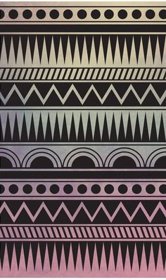 AZTEC PATTERN Stretched Canvas
