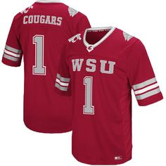 Washington State Cougars Colosseum Hail Mary II Football Jersey - Crimson