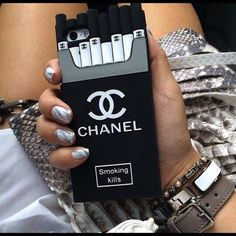 Chanel iPhone 5/5s Case Smoking kills case NWOT Accessories Phone Cases
