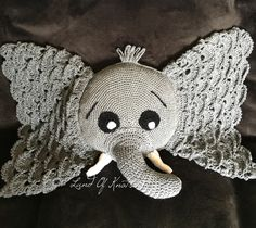 A personal favorite from my Etsy shop https://www.etsy.com/listing/467217413/crochet-elephant-pillow-elephant-pillow