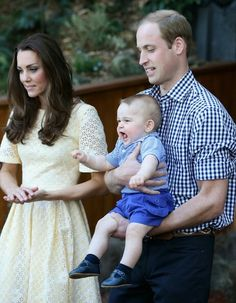 4/20/14 William, Kate & George at the Taronga Zoo in Sydney, Australia.