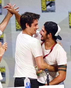 Dylan and Tyler at SDCC after not seeing each other they reunited ❤️