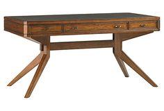 """LEXINGTON HOME BRANDS   Lido Shores Desk   60""""w x 31""""d x 30""""h   faux shagreen top   2,630.00 retail"""