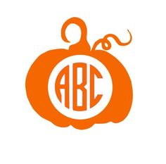 Custom Monogram Pumpking Decal, Pumpkin Iron On, Pumkin HTV Car Decal, Monogram Pumpkin, Pumpkin Decal, Halloween Decal, Fall Decal by VaVaVoomVinyl on Etsy https://www.etsy.com/listing/246361365/custom-monogram-pumpking-decal-pumpkin