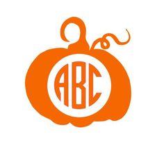 Custom Monogram Pumpking Decal, Pumpkin Iron On, Pumkin HTV Car Decal, Monogram Pumpkin, Pumpkin Decal, Halloween Decal, Fall Decal by VaVaVoomVinyl on Etsy https://www.etsy.com/listing/246361365/custom-monogram-pumpking-decal-pumpkin