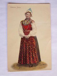 Dala-Järna, Dalarna. Swedish Style, Swedish Design, Folk Costume, Costumes, Swedish American, Swedish Christmas, My Heritage, Headgear, Vintage Postcards