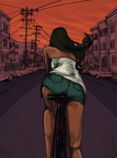 geocycle2010: auroristar: Biking. By me. Supporting art in all it's forms… #girlfriend