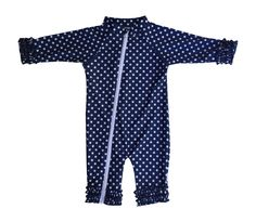 2677880ec0 Amazon.com: SwimZip Baby Girl and Toddler Girl Long Sleeve Sunsuit Romper  Swimwear with UV UPF 50+: Clothing