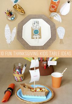 10 Fun Thanksgiving Kids' Table Ideas