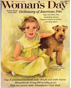 Vintage Woman's Day magazine ... I think I remember this cover--I was as old as Caroline Kennedy!