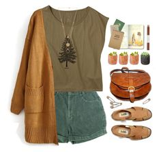 #184 afternoon walk in the woods by dreamered on Polyvore featuring Maison Margiela, Shop Succulents and Faber-Castell