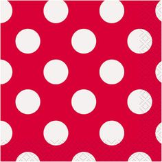 Red Polka Dot Guest Napkins, 40pk