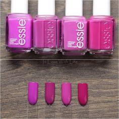 Essie: DJ Play That Song // Essie: Flowerista // Essie: The Girls Are Out // Essie: Big Spender