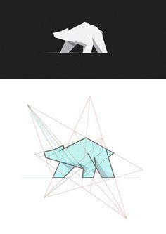 geometric bear design - Recherche Google