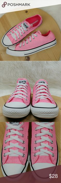 Converse All Star shoes pink and white unisex Converse All Star shoes pink and white unisex Womens size 9 Mens size 7 Washed and sanitized Has little signs of wear  light stains/ scuffs Converse Shoes Sneakers